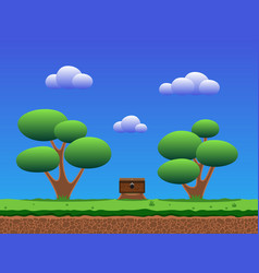 Seamless smooth cartoon game background vector