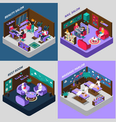 Beauty and health procedures isometric vector