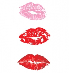 lip print vector image