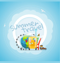 vacation travelling concept travel vector image