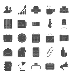 Office and marketing silhouettes icons set vector