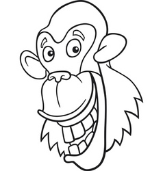 Chimpanzee for coloring book vector