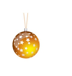 orange christmas ball vector image