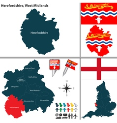 Herefordshire west midlands vector
