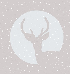 Deer stag icon with snowflakes vector