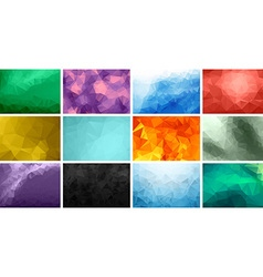 Polygonal background set vector