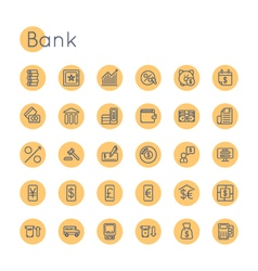 Round bank icons vector