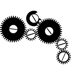 Wheelwork drawing vector