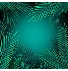 Blue jungle leaves background vector image