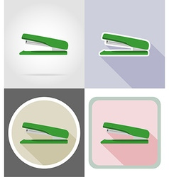 stationery flat icons 11 vector image