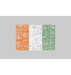 Ivory coast flag design concept vector