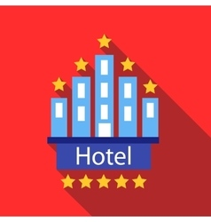 Hotel 5 stars icon flat style vector