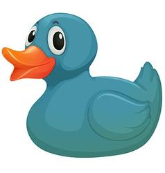 A light blue rubber duckie vector