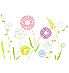 abstract spring floral background vector image vector image