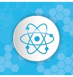Atom medical science vector