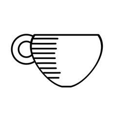 coffee cup hot beverage outline vector image