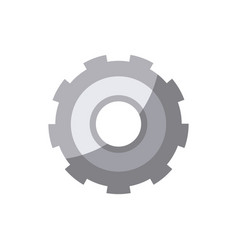 Colorful silhouette of gear of wheel without vector