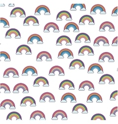 Cute rainbown fantasy pattern vector