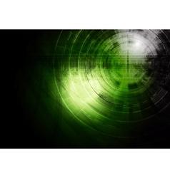 Dark green technology background vector image