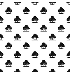 Forest trees pattern simple style vector