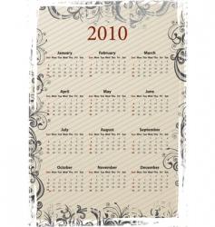grungy calendar 2010 vector image vector image