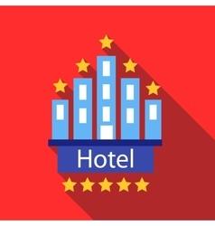 Hotel 5 stars icon flat style vector