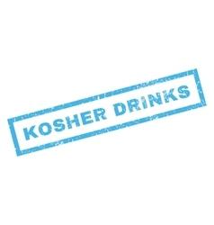 Kosher drinks rubber stamp vector