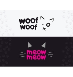logo emblem label design elements for pet vector image