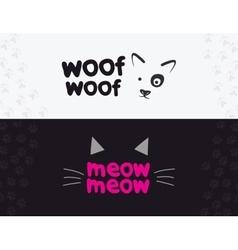 logo emblem label design elements for pet vector image