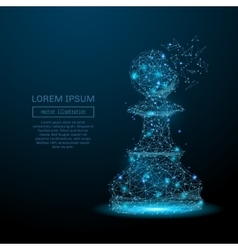 Low poly chess pawn as a constellation in space vector image vector image
