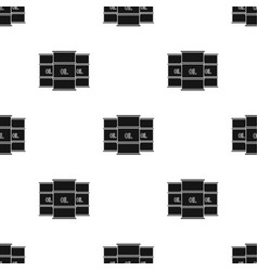 Oil barrel icon in black style isolated on white vector