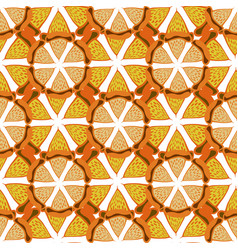 orange background bright seamless pattern hand vector image