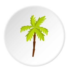 Palm tree icon circle vector
