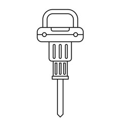 pneumatic hammer icon outline vector image vector image