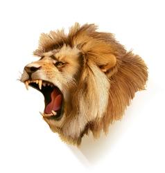 Roaring lion head vector
