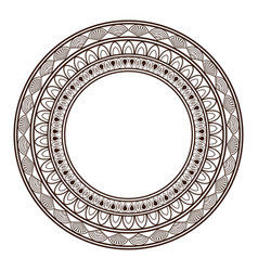 Round frame and decorative vintage design element vector