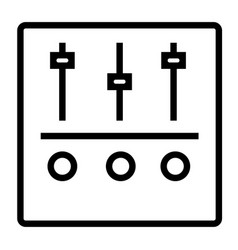 settings equalizer stream line icon vector image