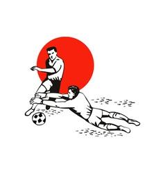 Soccer goalie ball vector