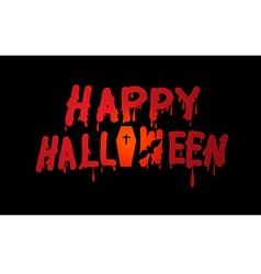 Text halloween banner vector