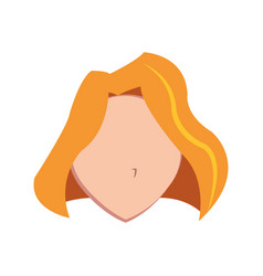 Woman faceless isolated vector