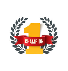Champion number one background vector image