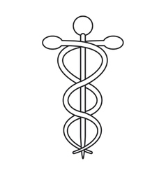 Isolated caduceus and medical care design vector