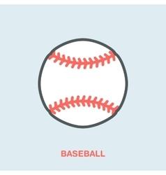 Baseball softball line icon ball logo vector