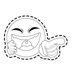 emoji making fun of icon image vector image