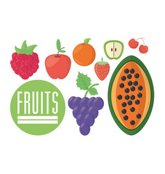 Fruits food nutrition diet healthy vector