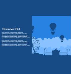 Flat amusement park background vector