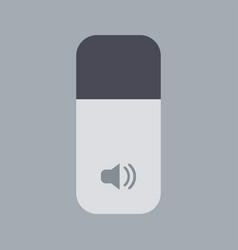 Modern sound icon on gray background vector