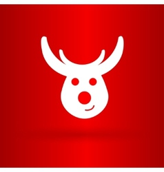 Nice deer on the red background vector
