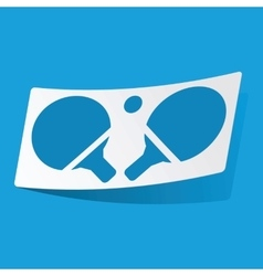 Table tennis sticker vector
