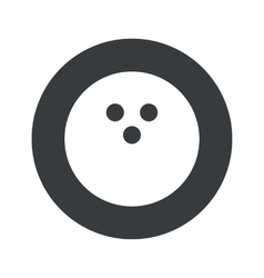 Monochrome round bowling icon vector